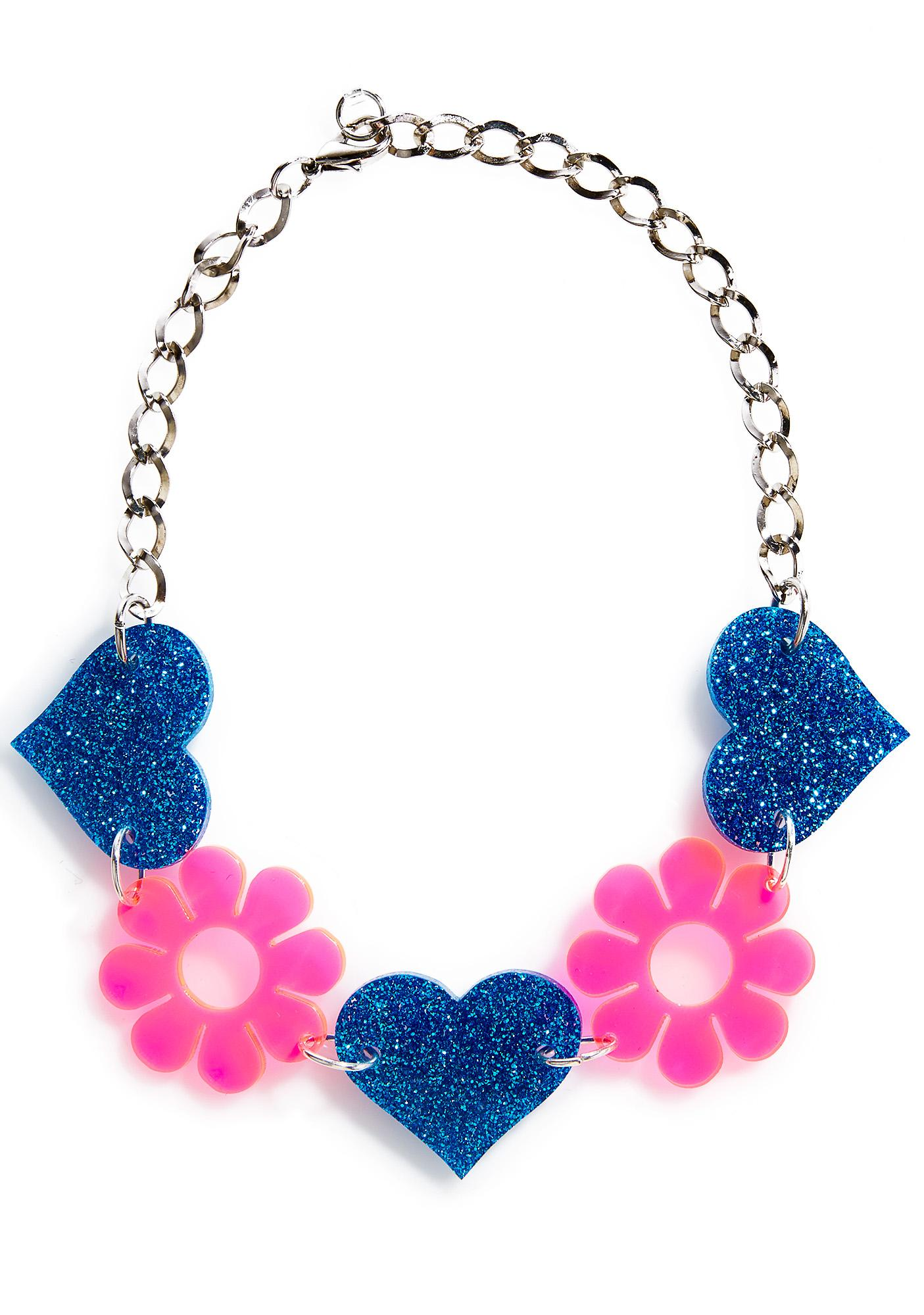 Marina Fini Heart & Flower Choker