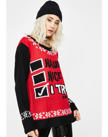 A For Effort Holiday Sweater