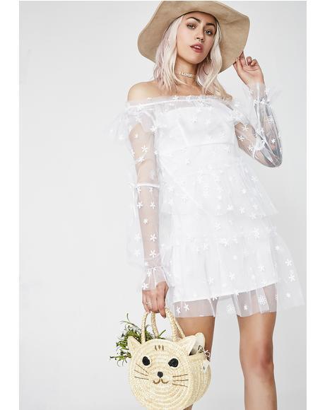Claudia Off Shoulder Tulle Dress