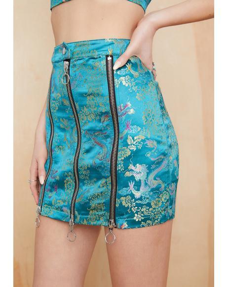 Destination Anywhere Brocade Skirt