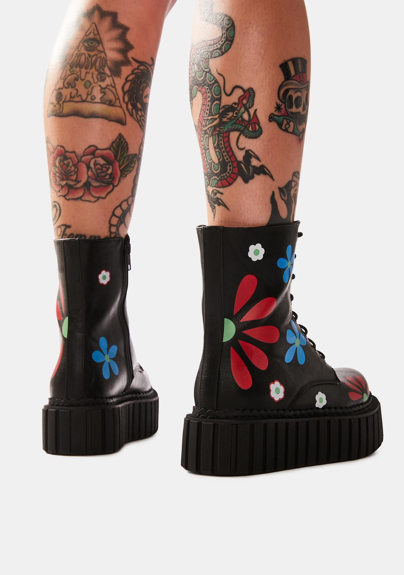 Lamoda Rocking The Daisies Platform Ankle Boots