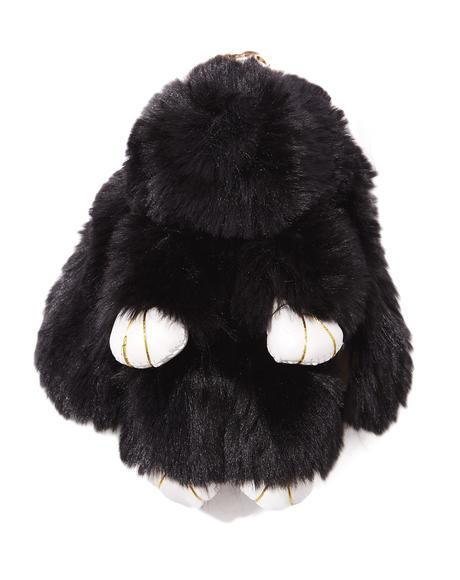 Fuzzy Bun Plush Keychain