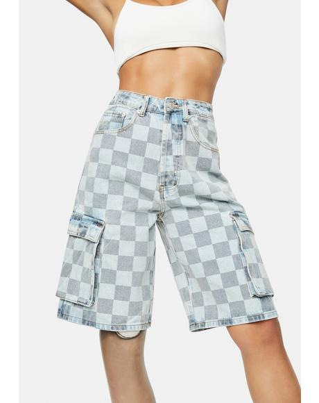 Checkmate Denim Cargo Shorts
