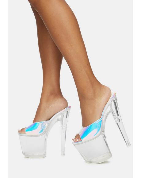 Sasha Atlantis Clear Platform Heels