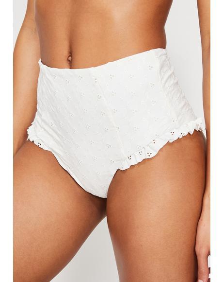 Ruffle Leg High Waist Bikini Bottoms