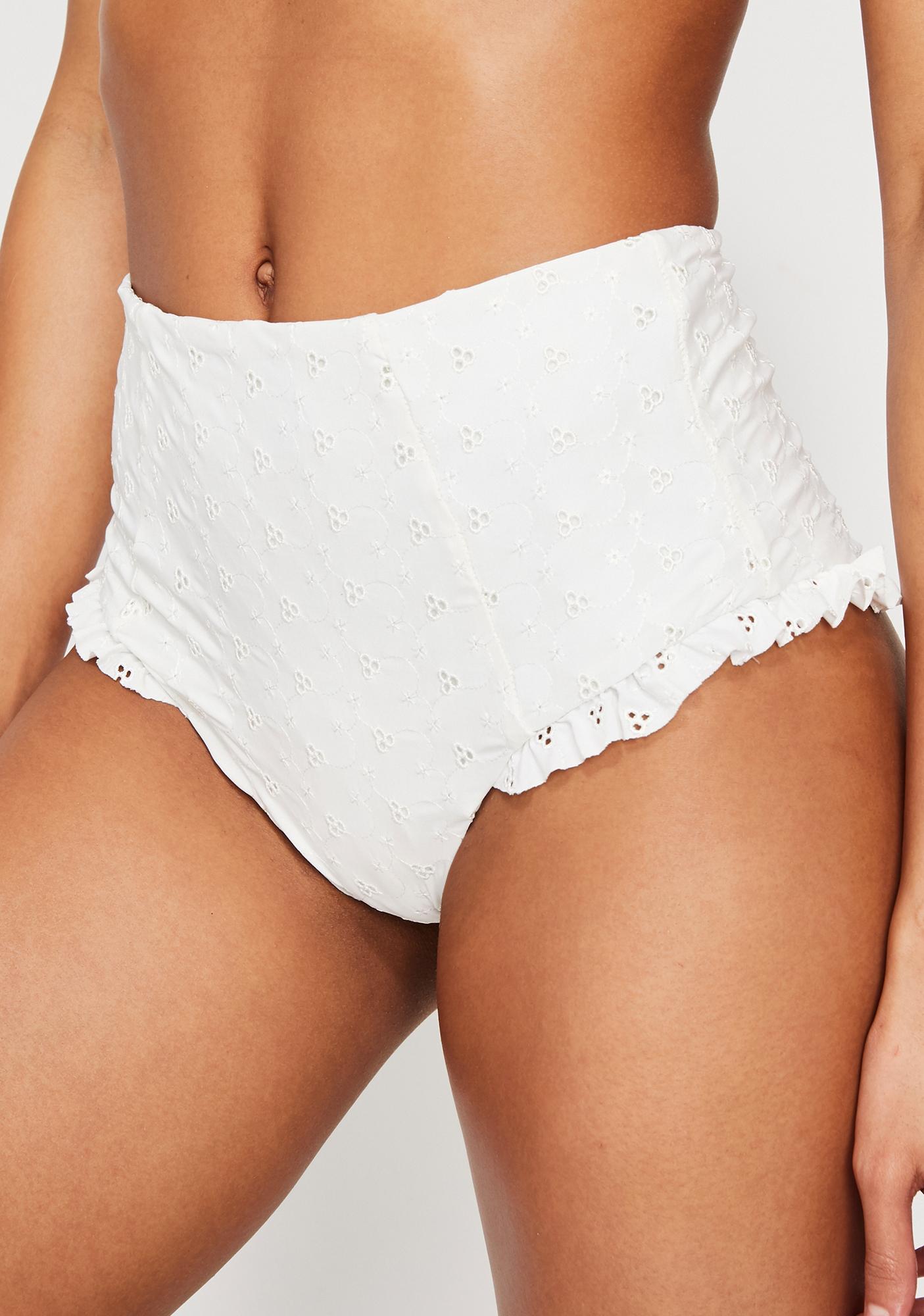Dippin' Daisy's Ruffle Leg High Waist Bikini Bottoms