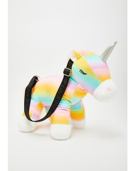 Kitsch Velour Pony Crossbody Bag