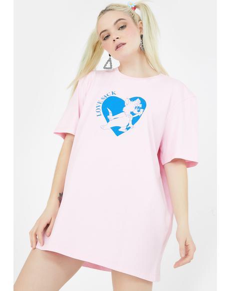 Lovesick Kitty Graphic Tee
