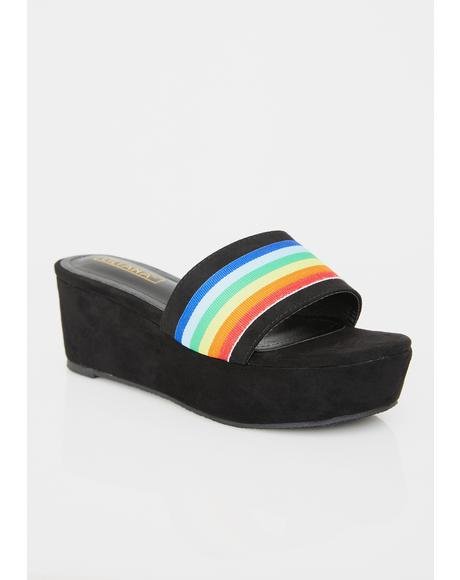 Lunar Rainbow High Suede Platforms