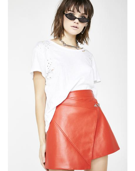 Safe Word Wrap Skirt