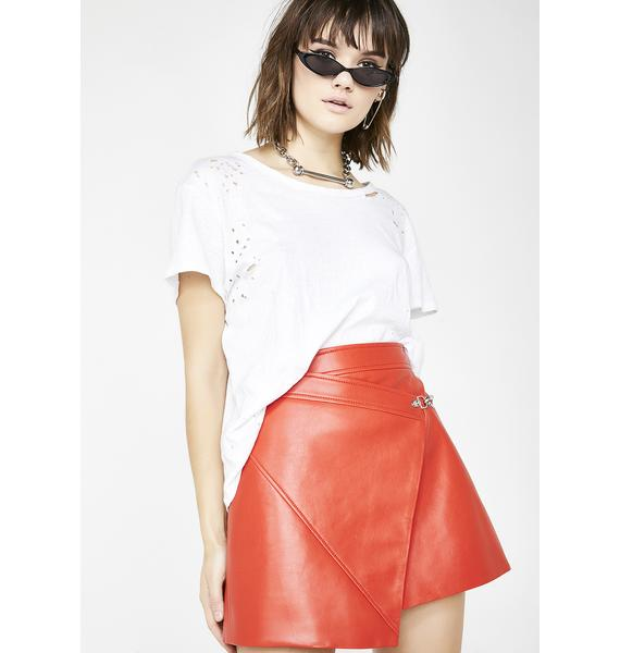 Blank NYC Safe Word Wrap Skirt