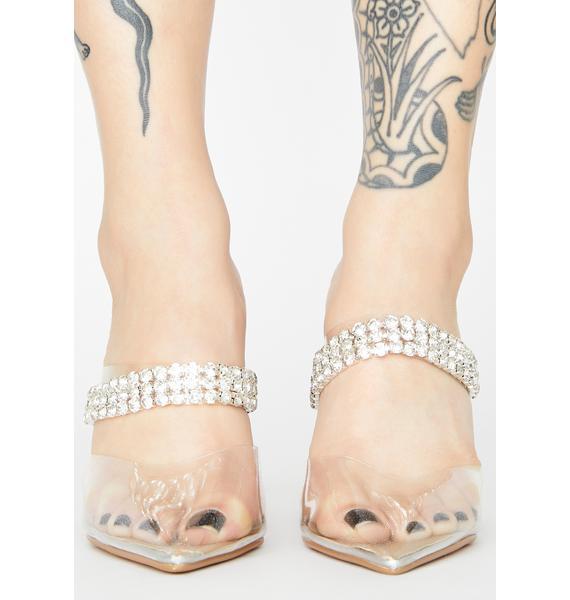 Showgirl Flair Clear Heels