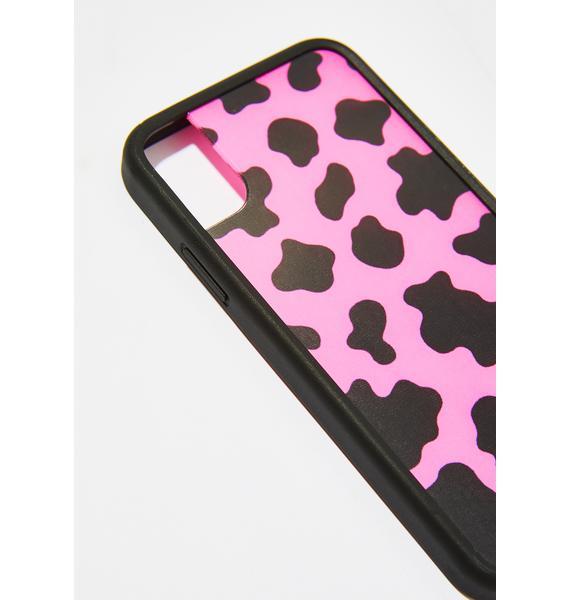 Wildflower Neon Cow iPhone Case