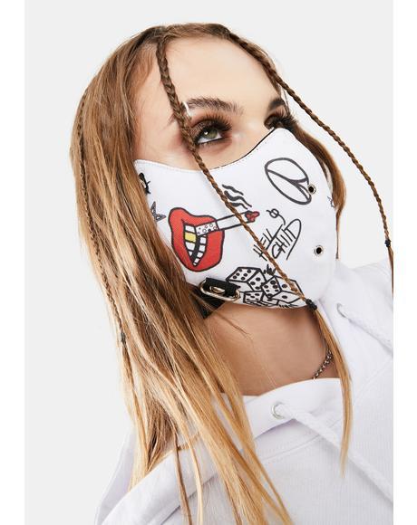 Doodle Face Mask