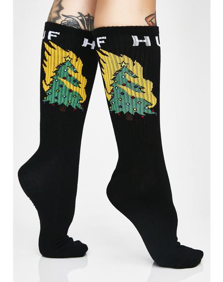 Hot Fire Socks
