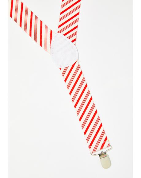 Lick It Candy Cane Suspenders