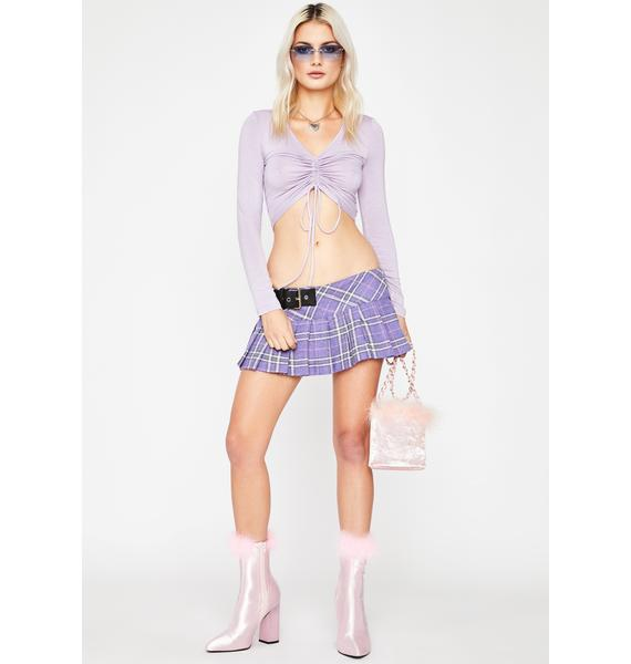 Lilac Better Together Cinch Tie Top
