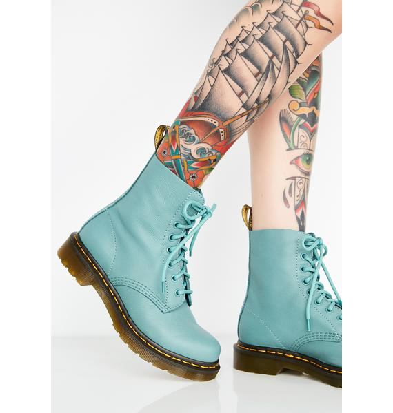 Dr. Martens 1460 Pascal Pale Teal Boots