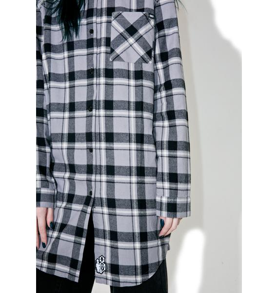 Rebel8 Ornate Badge Flannel Dress
