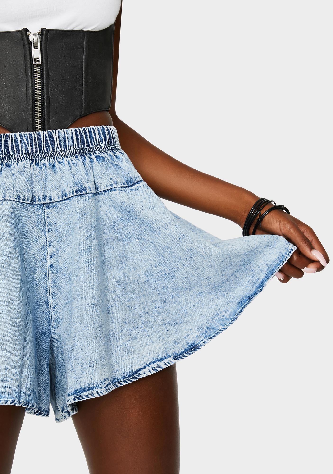 Back At It Denim Shorts