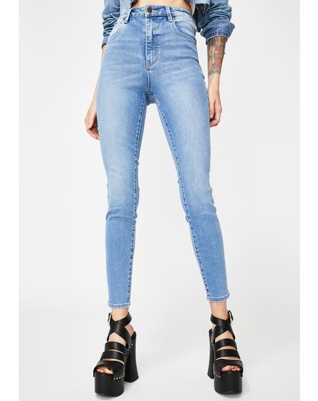 Ocean Blue Eastcoast Ankle Skinny Jeans