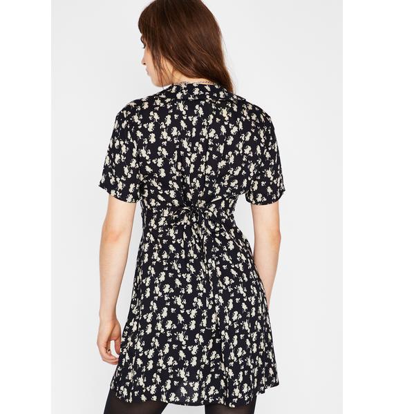 Current Mood Midnight Bloom Mini Dress