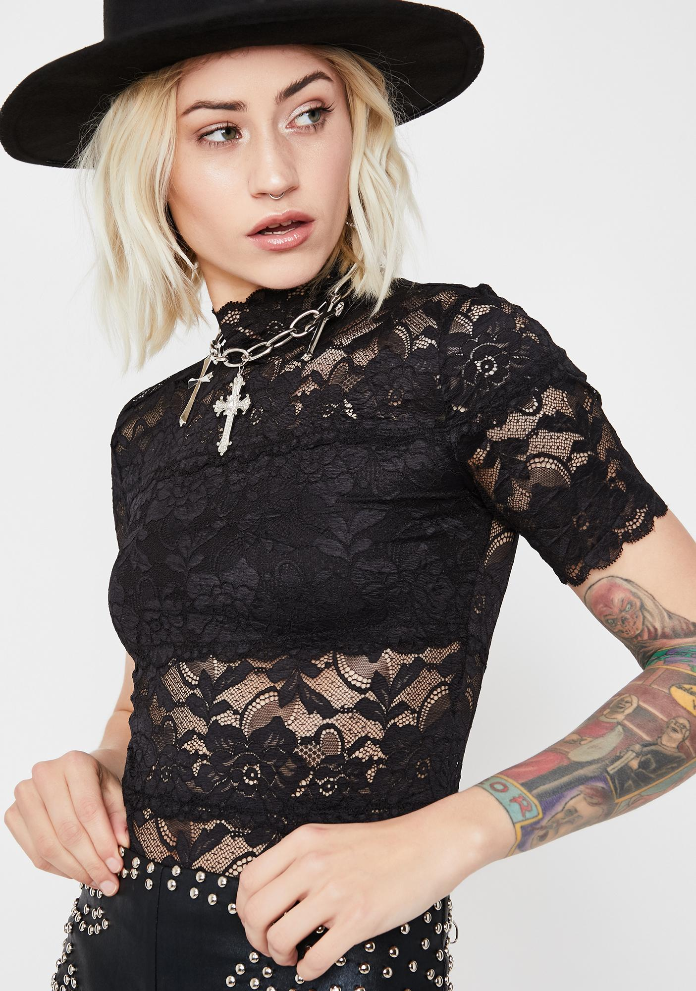 Witchy Potential Lace Top
