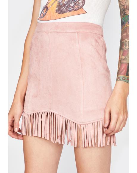 Country Connections Fringe Skirt