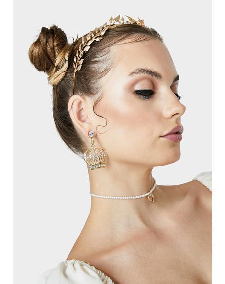 Under My Reign Crown Earrings