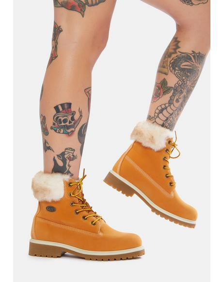 Convoy Faux Fur 6 Inch Boots