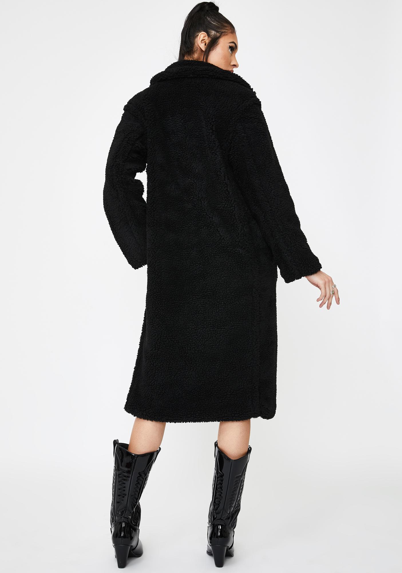 BB Dakota Black Paddington Teddy Coat