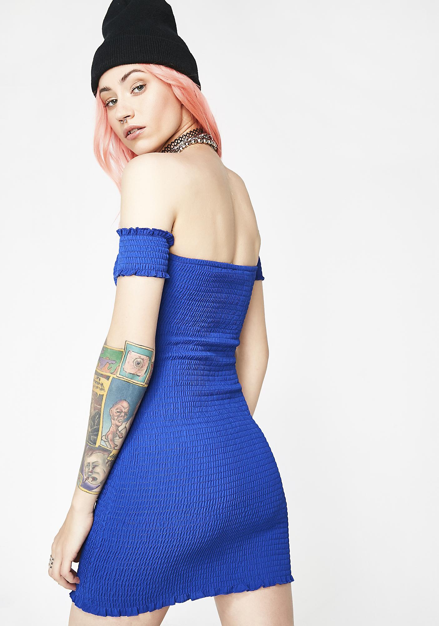 So Needy Off Shoulder Dress
