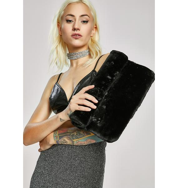 Wild Thoughts Furry Clutch