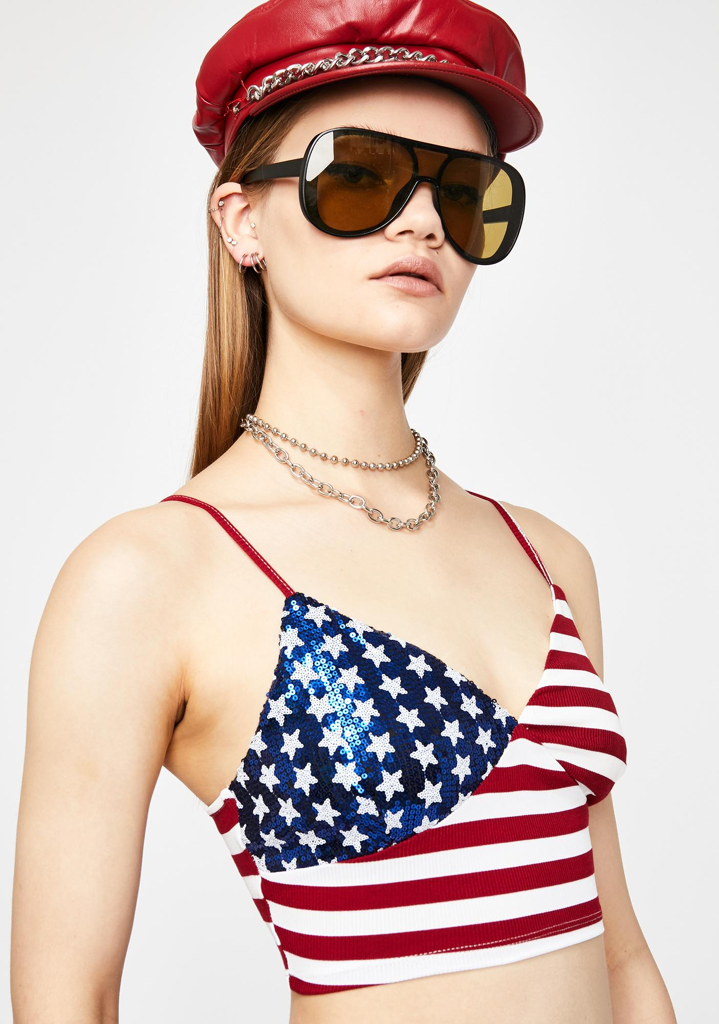 Star Spangled Sass Crop Top