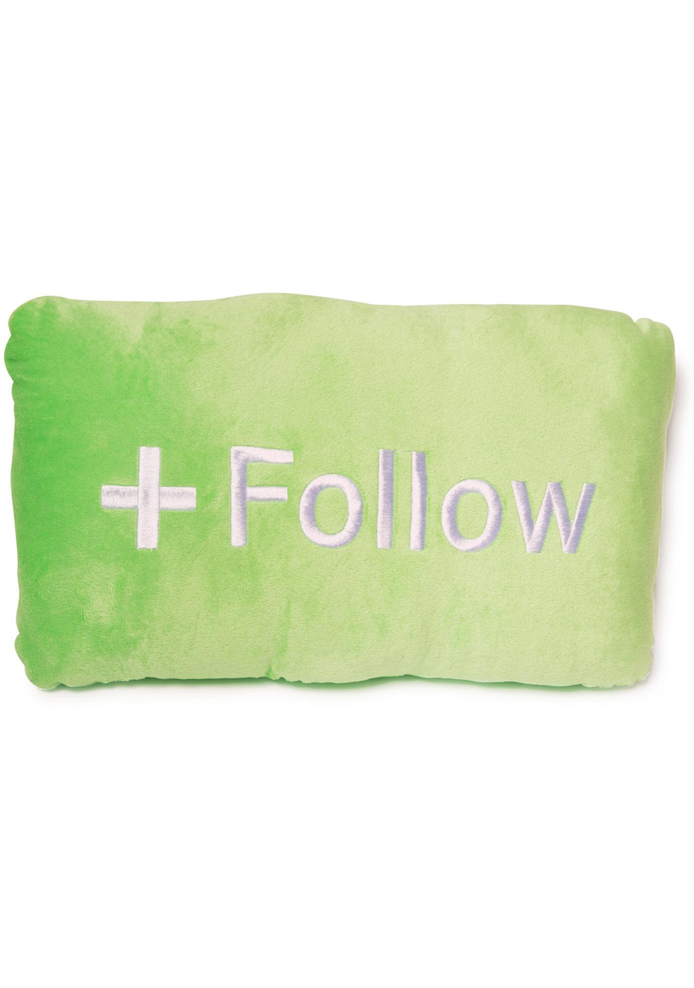 Follow Button Pillow