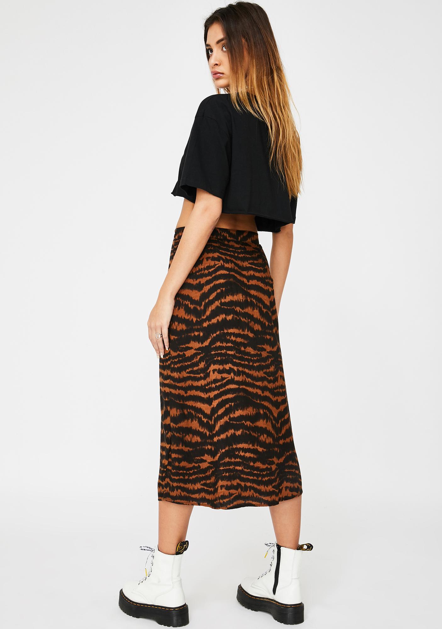 Motel Animal Drip Saika Skirt