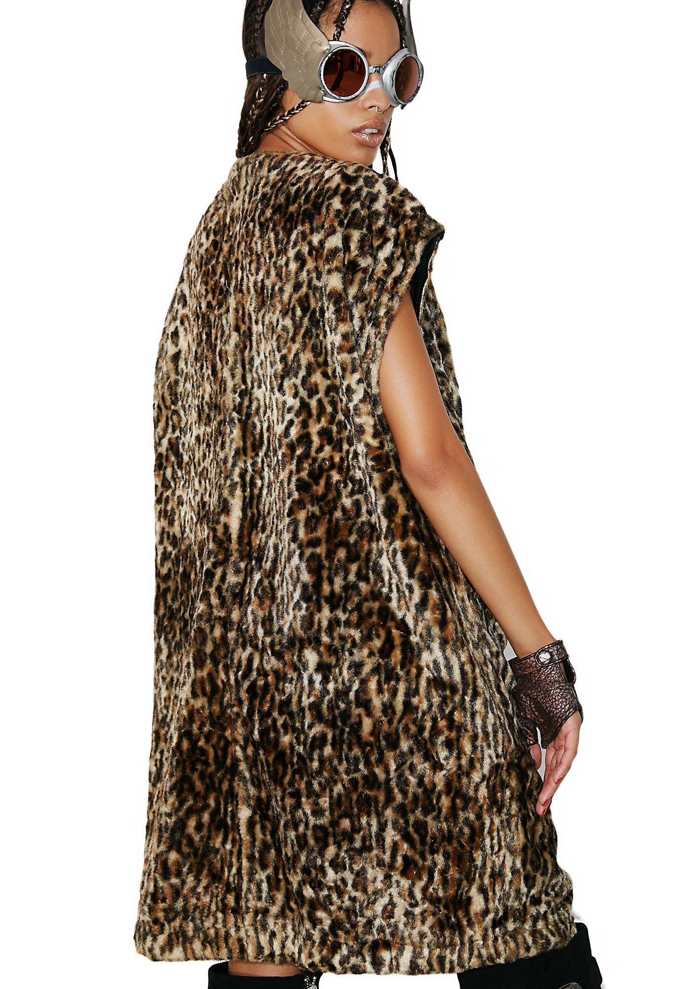 Vintage Leopard Fur Vest