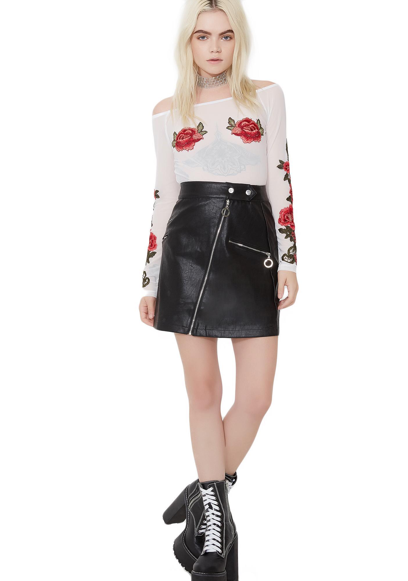 Sweet Temptation Sheer Rose Bodysuit