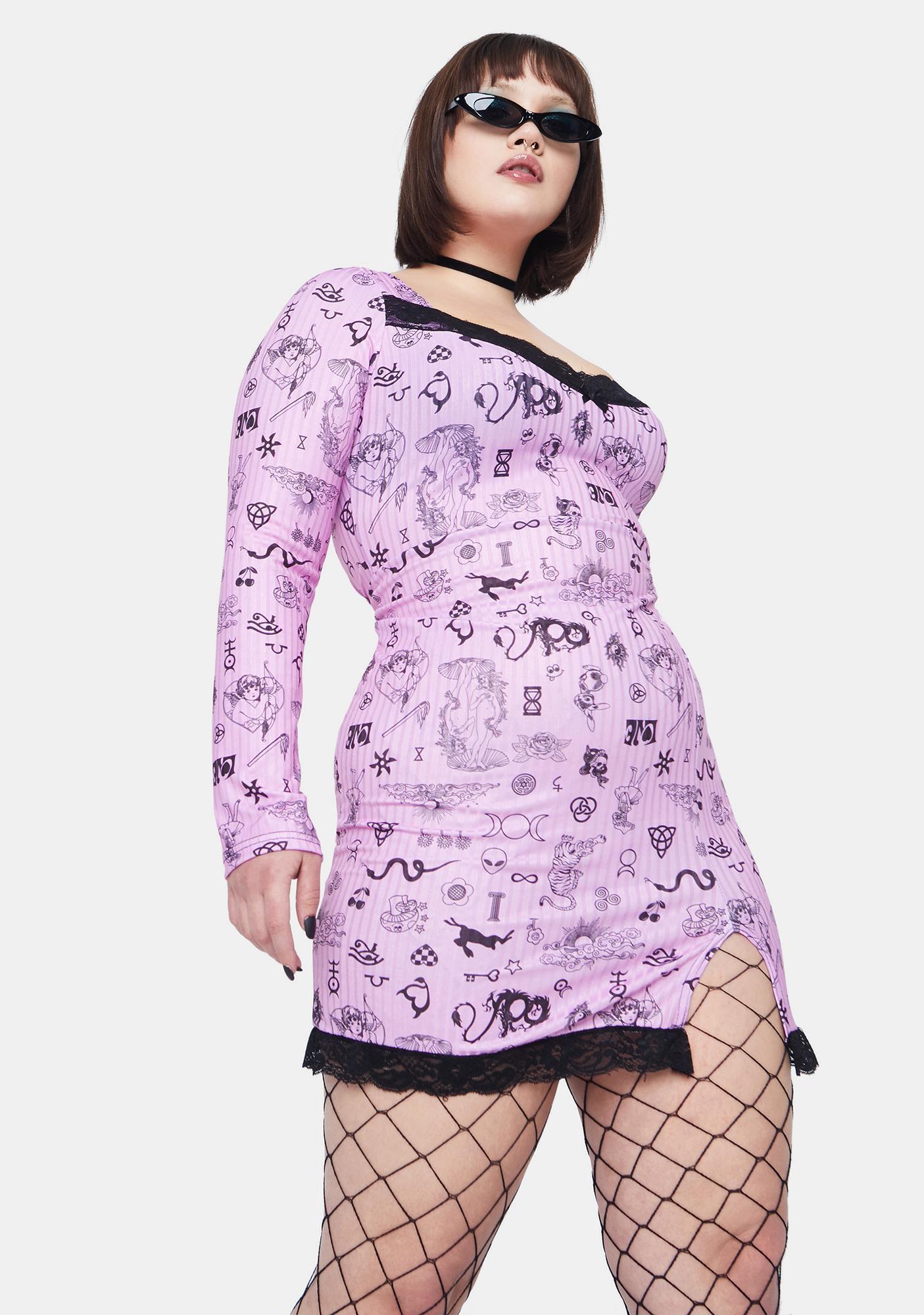NEW GIRL ORDER Curve Symbols Dress