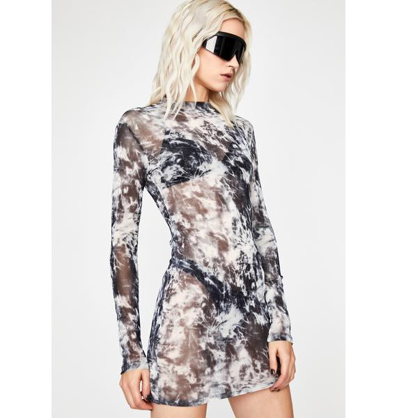 Smoke Signals Mesh Dress