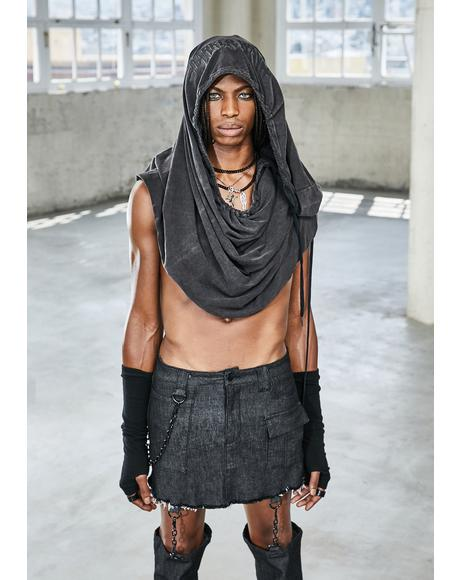 Bassline Distressed Cargo Skirt