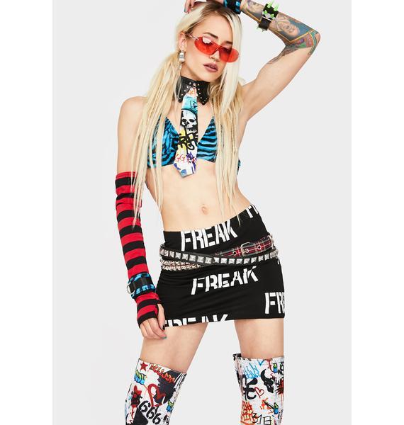 Current Mood Freak Show Mini Skirt