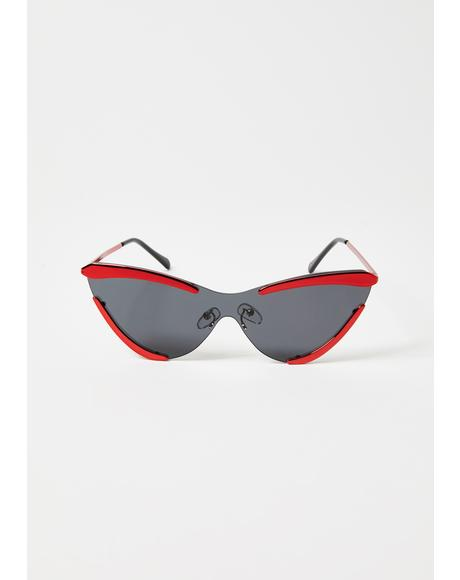Model Behavior Cat-Eye Sunglasses