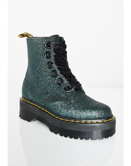 Emerald Molly Glitter Boots