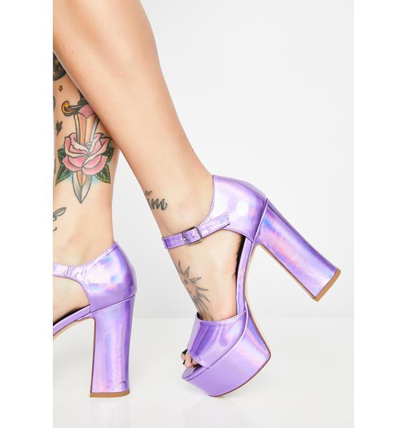 HOROSCOPEZ Miss Mystical Metallic Heels
