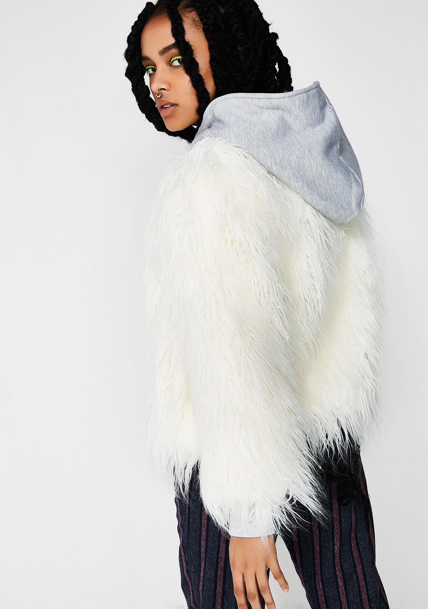 Snow Monster Fuzzy Hoodie