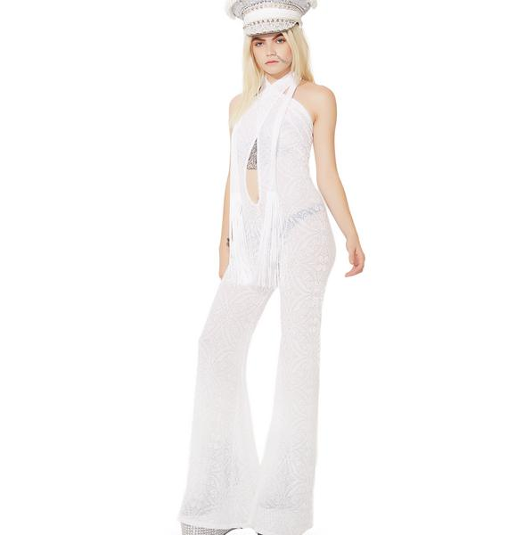 TEMPLE RO Burnout Velvet Jumpsuit