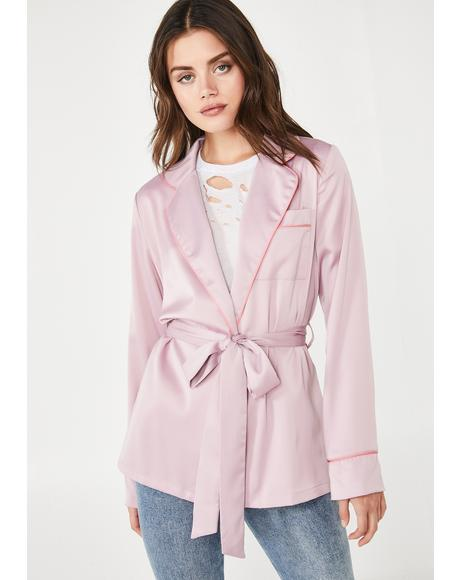 Kind Heart Satin Blazer