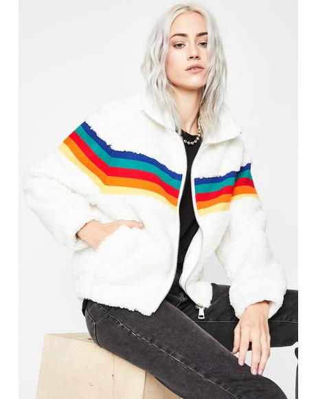 Retro Riot Faux Fur Jacket