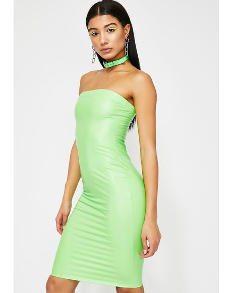 Neon Thirsty DM's Bodycon Dress